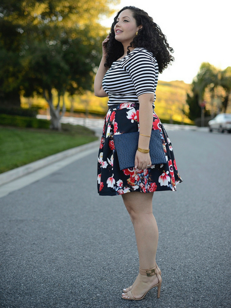 How to be more stylish_Print mixing_Girl With Curves
